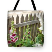 Do-00099 Fence-flowers Tote Bag