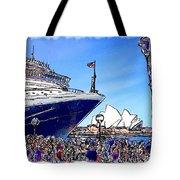 Do-00100 A Ship And Opera House Tote Bag