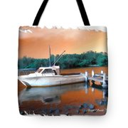 Do-00108 Boat At Sunset Tote Bag