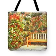 Do-00122 Inviting Bench Tote Bag