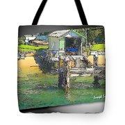 Do-00128 Boatshed At Brisbane Water Tote Bag