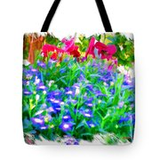 Do-00221 Flowers Tote Bag
