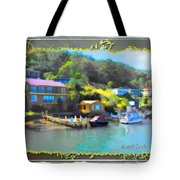 Do-00243 Houses On Brisbane Water Tote Bag