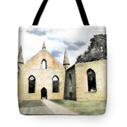 Do-00244 Abandoned Church Tote Bag