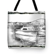 Do-00250 A Boat Tote Bag