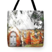 Do-00264 Ghostly Look Of St John Church Tote Bag