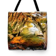 Do-00268 Trees On Water In Avoca Estuary Tote Bag