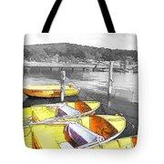 Do-00279 Yellow Boats Tote Bag