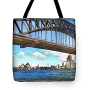 Do-00284 Sydney Harbour Bridge And Opera House Tote Bag