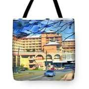Do-00288 Crowne Plazza From A Hill Tote Bag