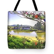 Do-00289 The Clan Lakeside Lake Lodge Tote Bag