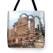 Do-00302 Ruins In Anjar Tote Bag