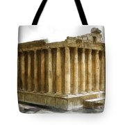 Do-00311 The Temple Of Bacchus Baalbeck Tote Bag