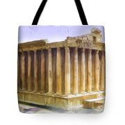 Do-00312 Temple Of Bacchus In Baalbeck Tote Bag