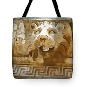 Do-00313 Lion Water Feature Tote Bag