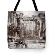 Do-00316 Inside The Temple Of  Bacchus - Baalbeck Tote Bag