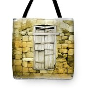 Do-00322 An Old Door And Wall Tote Bag