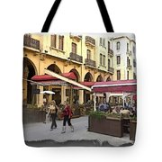 Do-00352 Downtown Coffee Shops Tote Bag