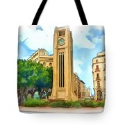Do-00358 The Clock Tower Tote Bag