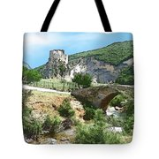 Do-00402 Mussaylaha Fort At Nahr El-jawz Tote Bag