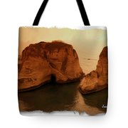 Do-00405 Raouche Sunset Beirut  Tote Bag