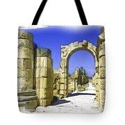 Do-00407 Roman Portico In Tyr Tote Bag
