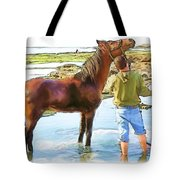 Do-00421 Washing Horse In Mina Tote Bag
