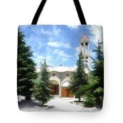 Do-00460 St Charbel Church Tote Bag