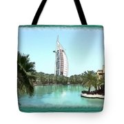 Do-00464 View Of Burj Al-arab Tote Bag