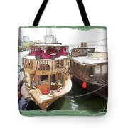 Do-00475 Old Boats Tote Bag