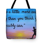 Do A Little More 18x24 Inspirational Art Tote Bag