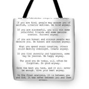 Do It Anyway By Mother Teresa #minimalism #inspirational Tote Bag