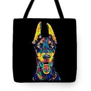 Doberman Dog Breed Head Pet Breed True Friend Color Designed Tote Bag