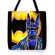 Dog Superhero Bat Tote Bag