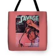 Doc Savage Poison Island Tote Bag