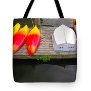 Dock And Boats Tote Bag