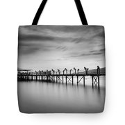 Dock At Autumn Tote Bag