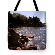 dock at Mount Hope Farm Bristol Rhode Island Tote Bag