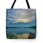 Dock At Shipshewana Lake Tote Bag