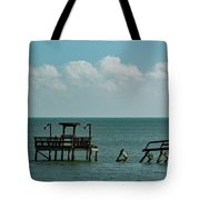 Dock By The Sea Tote Bag