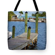Dock In The Keys Tote Bag