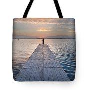 Dock On Arcata Bay At Twilight Tote Bag