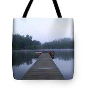 Dock On The Lake Tote Bag