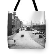 Dock Scene In New York City Tote Bag