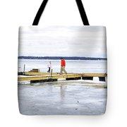 Dock Walking  Tote Bag