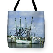 Docked In Port Orange Tote Bag