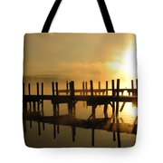 Docks-fire In The Sky Tote Bag