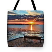 Dockside Sunset By H H Photography Of Florida Tote Bag