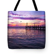 Dockside Sunset Tote Bag