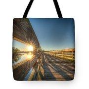 Dockside Sunset Tote Bag